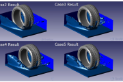 Using the CFD Technique to Analyze Tire Tread Hydroplaning  Effects